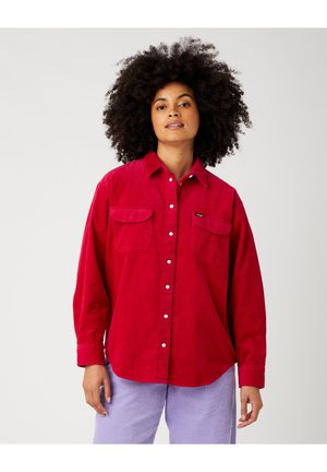Button-down blouse - cerise