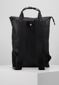 Zign - UNISEX LEATHER - Batoh - black - 3