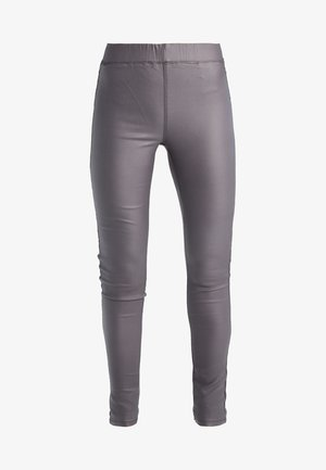 ADA COATED - Leggings - Trousers - dark dull grey