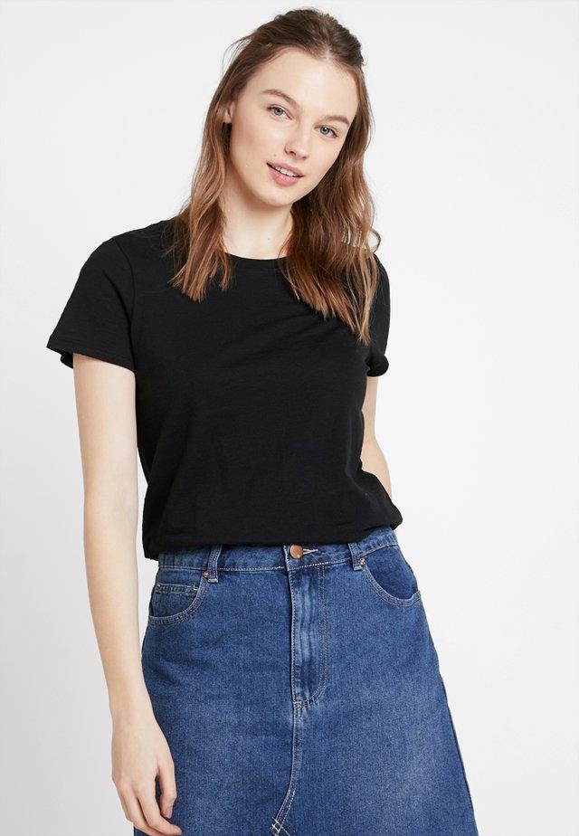 THE CREW - Basic T-shirt - black