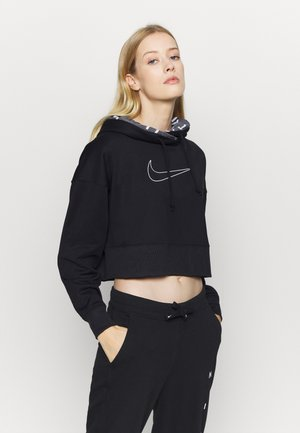 ALL CROP - Hoodie - black/white