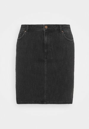 PCLILI SKIRT  - Mini skirt - black denim
