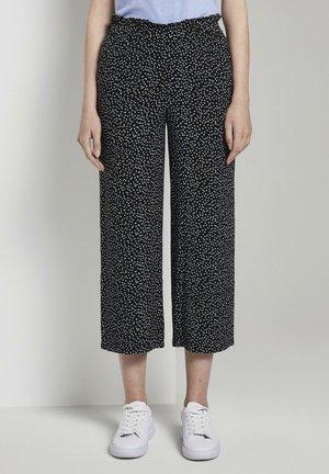 CULOTTE WITH FRILLS - Pantalon classique - mottled black