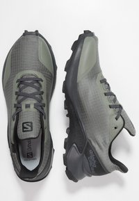 Salomon - ALPHACROSS GTX - Trail running shoes - castor gray/ebony/black - 1