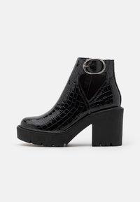 Topshop - BRYCE CUT OUT UNIT - Platform ankle boots - black - 0