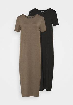 VMGAVA DRESS 2PACK - Jerseykjole - black/bungee cord