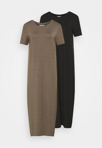 VMGAVA DRESS 2PACK - Jersey dress - black/bungee cord