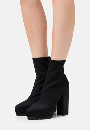 BOOT  - High heeled ankle boots - black