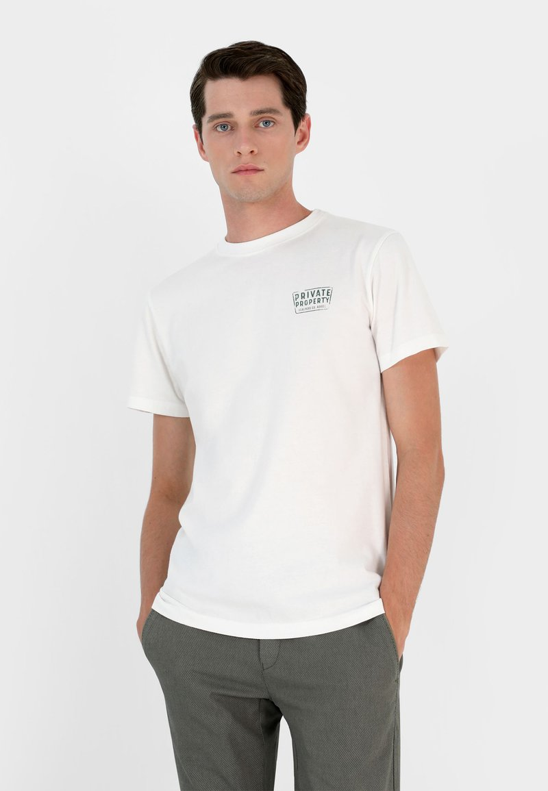 Scalpers - PRIVATE TEE - T-shirt imprimé - off white