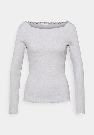 T-shirt à manches longues - mottled light grey