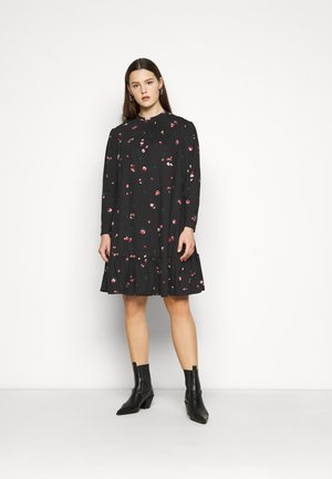 MILLIE HIGH NECK TIER SMOCK - Day dress - black