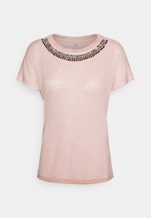 ONLRILEY BLING - Print T-shirt - misty rose