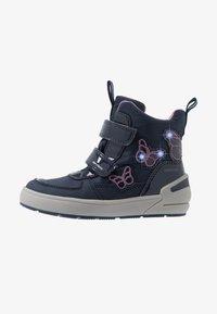 Geox - SLEIGH GIRL ABX - Winter boots - navy/dark lilac - 0