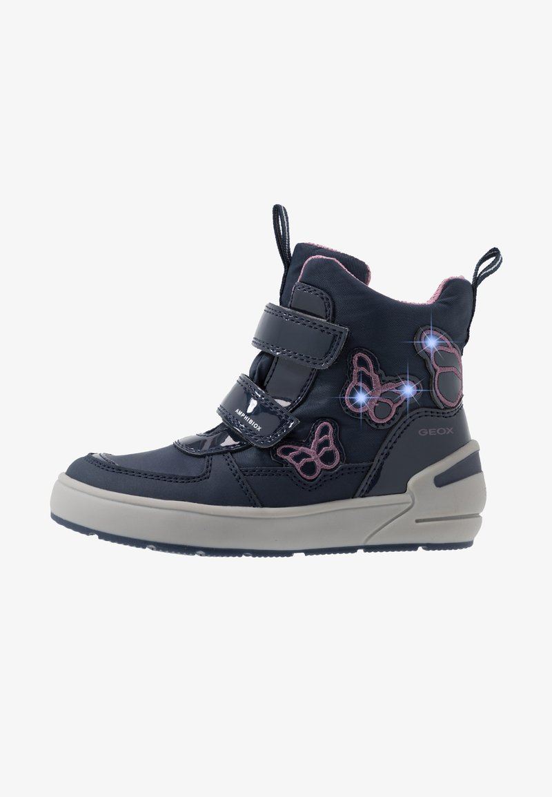 Geox - SLEIGH GIRL ABX - Winter boots - navy/dark lilac