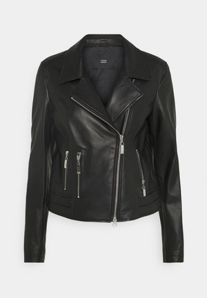 LUXURY BIKER JACKET - Leather jacket - black