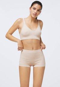 OYSHO - KNIT  - Pants - beige - 1