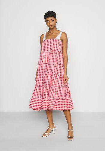 LOVE NOTE MIDI DRESS - Day dress - red