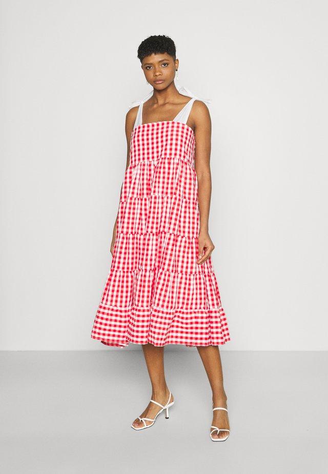 LOVE NOTE MIDI DRESS - Sukienka letnia - red