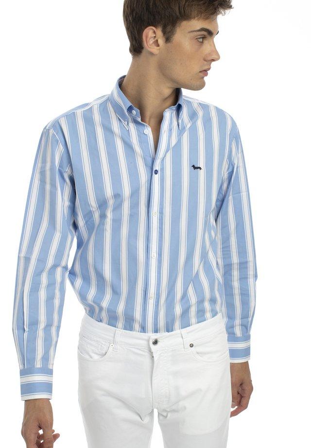 MONOTESSUTO - Camicia - turchese screziato