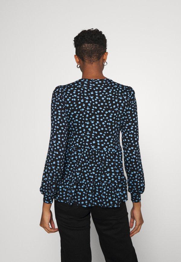 New Look TIER PRINTED PEPLUM - Bluzka - black/czarny DJIO