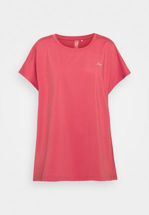 ONPAUBREE LOOSE TEE CURVY - T-shirts - holly berry