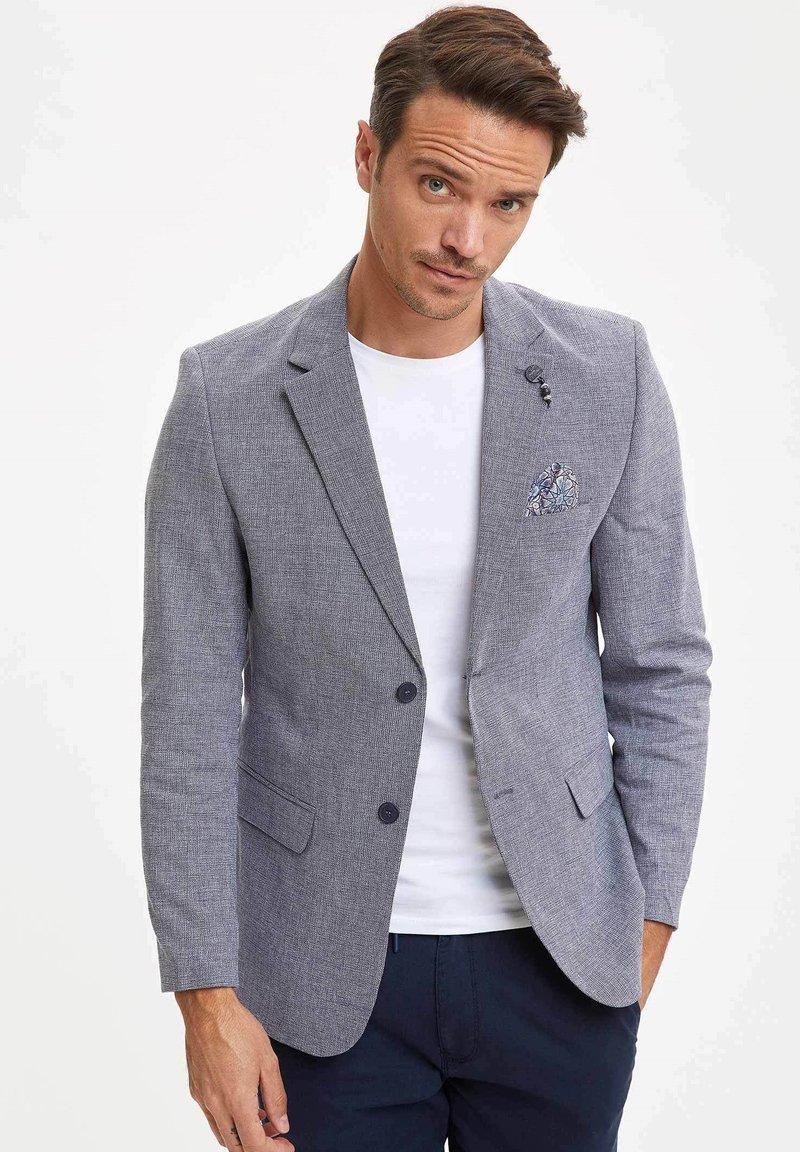 DeFacto - Blazer jacket - blue-grey
