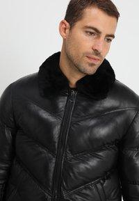 Serge Pariente - STORM - Giacca di pelle - black - 5