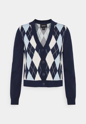 LAILA - Cardigan - navy/blue/offwhite