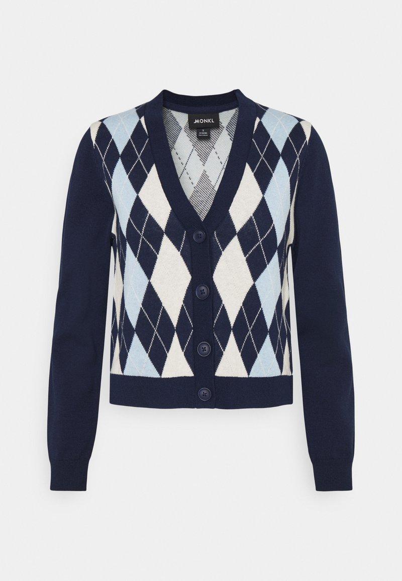 Monki - LAILA - Vest - navy/blue/offwhite