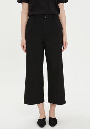 DEFACTO WOMAN  BLACK - Pantalon classique - black