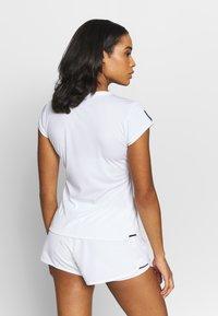 adidas Performance - CLUB TEE - Print T-shirt - white/silve/black - 2