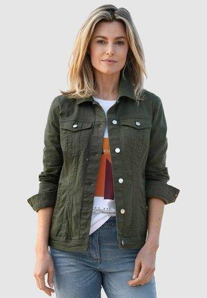 Denim jacket - moosgrün