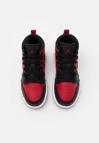 Jordan - 1 MID UNISEX - Basketball shoes - black/gym red/white - 3