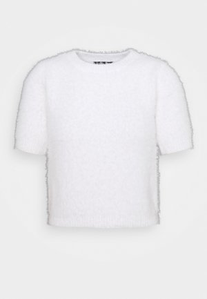FLUFFLY TEE - Pullover - white