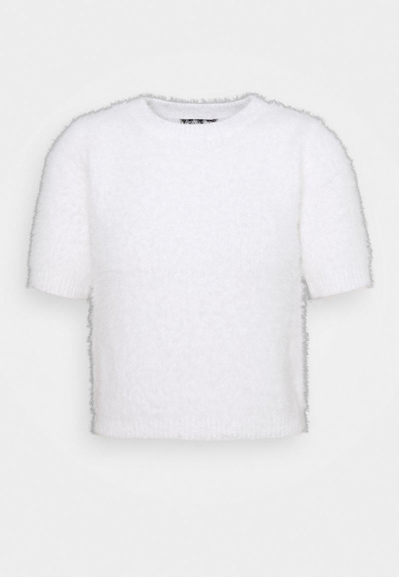 New Look Petite - FLUFFLY TEE - Stickad tröja - white