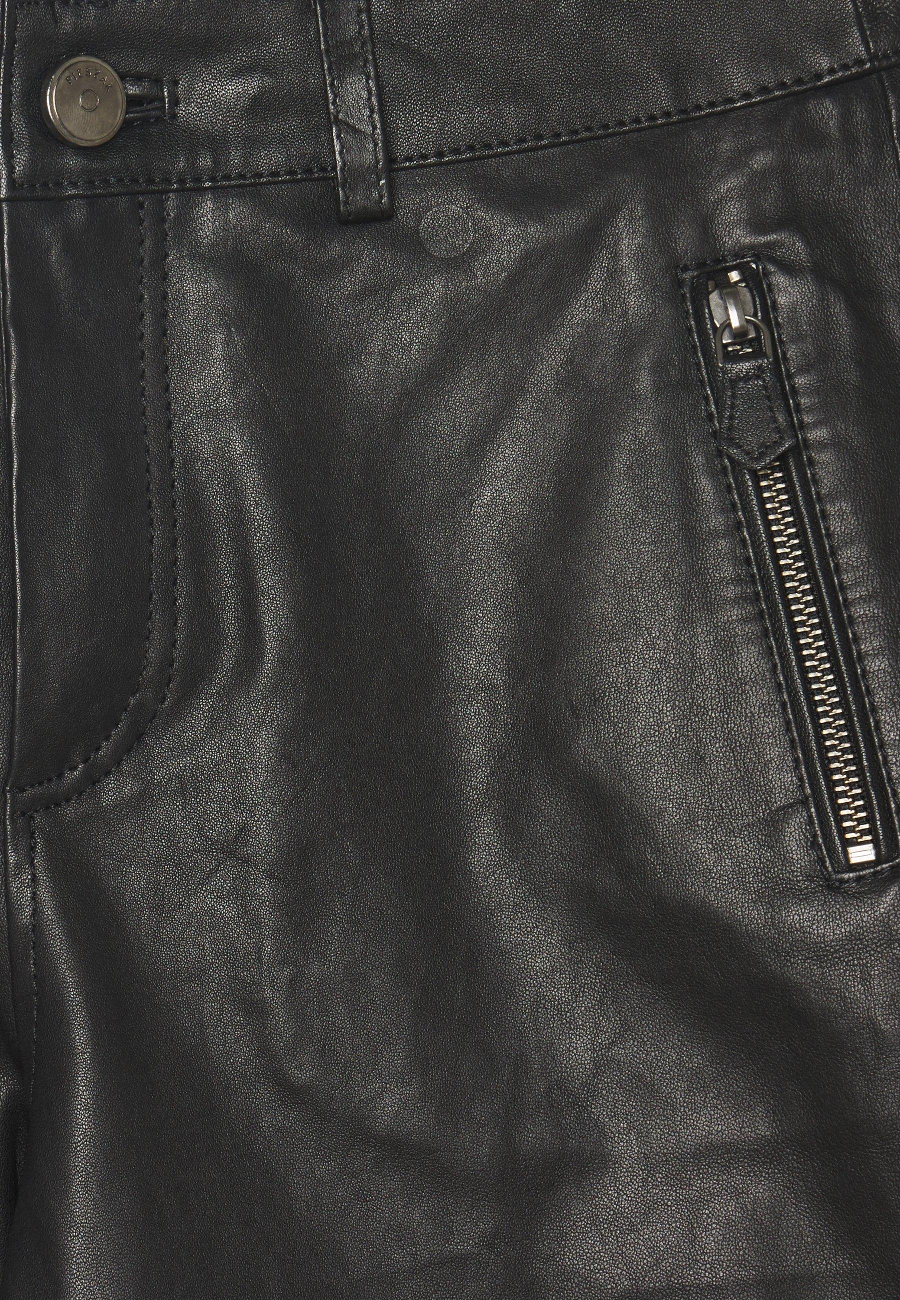 New Arrival Fashion Women's Clothing Pieszak NEW ALEX PANT Leather trousers black KONB8WQnP
