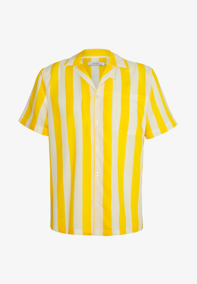 SHORT SLEEVE MARSTRAND BIG STRIPES - Vapaa-ajan kauluspaita - yellow