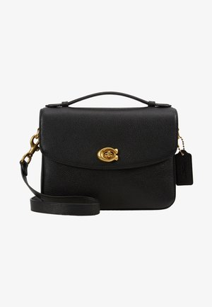 POLISHED PEBBLED BLAISE CROSSBODY - Torebka - black