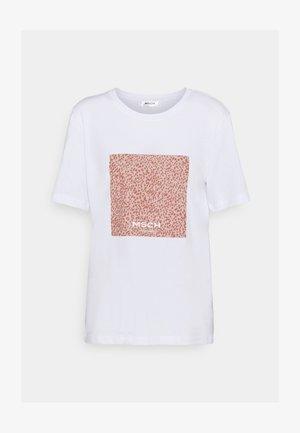 ALVA PRINT TEE - T-shirt z nadrukiem - white/rose