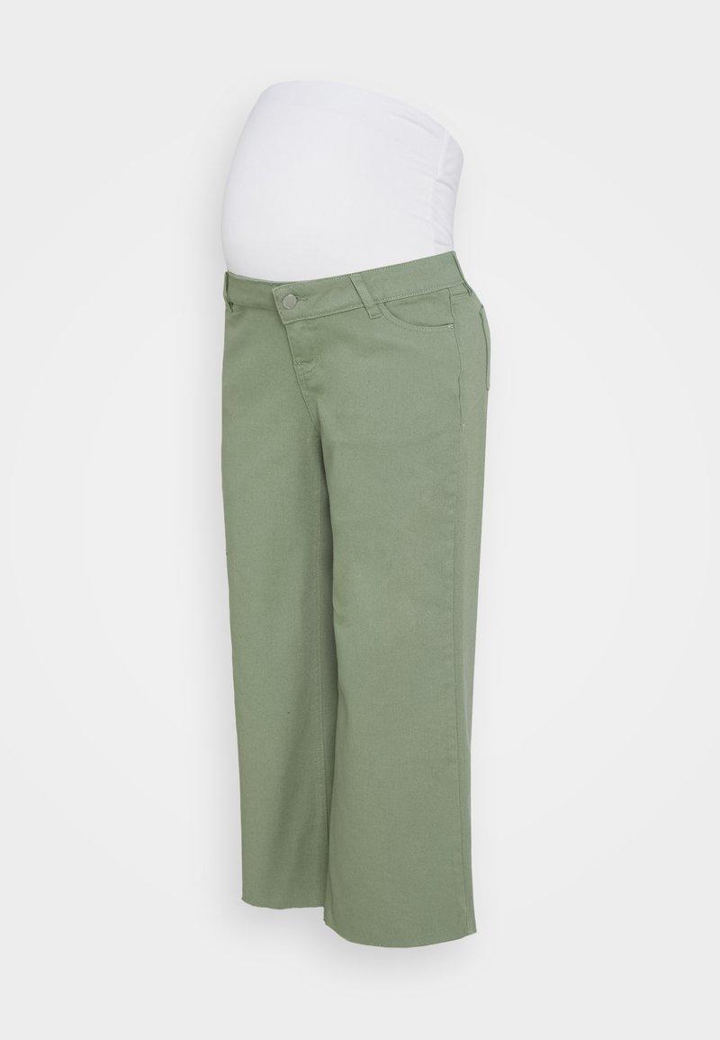 MAIAMAE - WIDE LEG CROP - Straight leg jeans - khaki