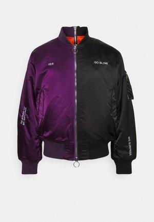 HORIZON UNISEX - Bomber Jacket - black/purple