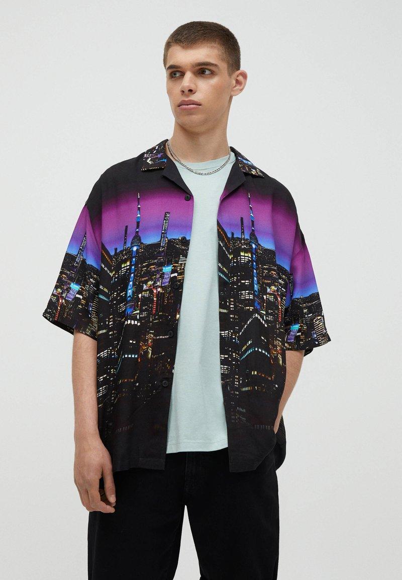 PULL&BEAR - Shirt - black