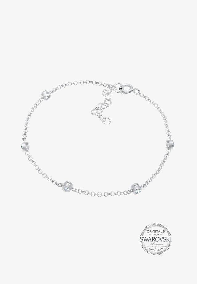 ZART FUNKELND SWAROVSKI® KRISTALLE 925 SILBER - Bracelet - silber