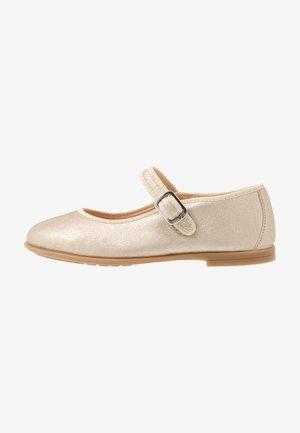 SEYLA - Ankle strap ballet pumps - platino