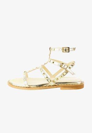 MARRADI - Varrelliset sandaalit - platinum