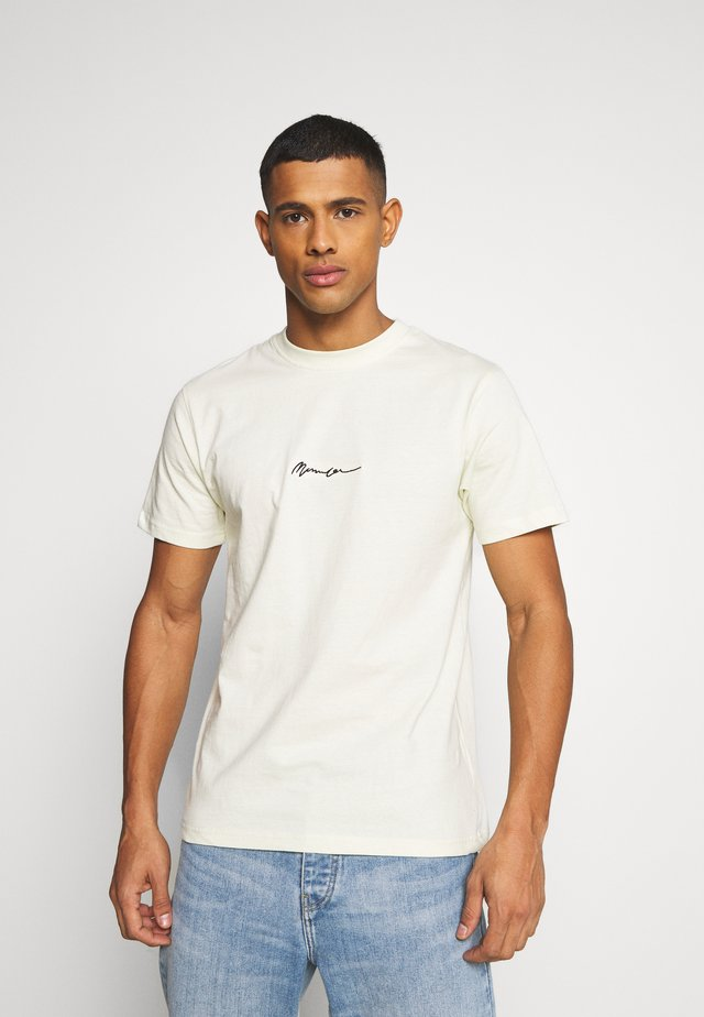 UNISEX ESSENTIAL SIGNATURE  - T-shirt med print - pale green