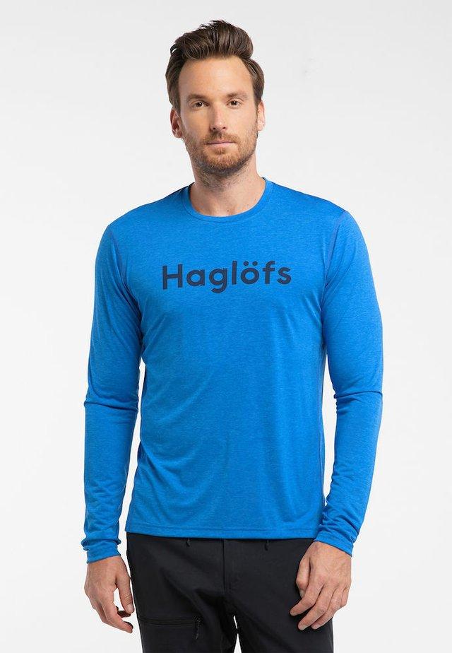 RIDGE LS TEE - Long sleeved top - storm blue