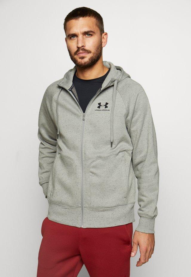 SPECKLED HOODIE - Zip-up hoodie - gravity green/black