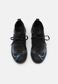 Nike Performance - MERCURIAL JR 8 ACADEMY IC UNISEX - Indoor football boots - black/iron grey - 3
