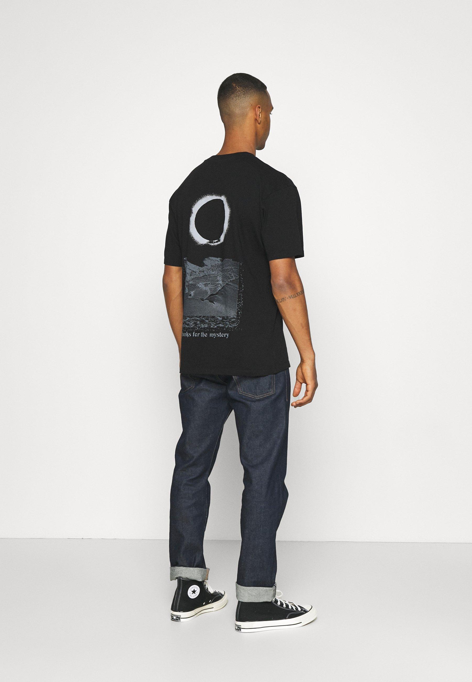 Men NAZO UNISEX - Print T-shirt - black